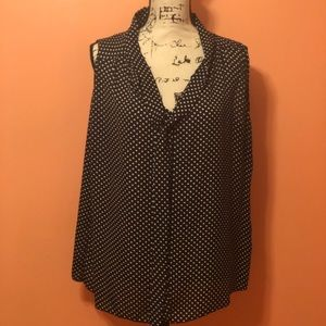 Jon & Anna sleeveless polka dot top. Size 1X.